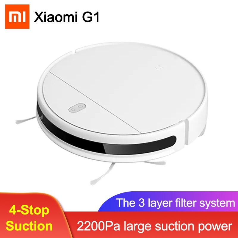 Подарок на Новый год XIAOMI Mi Цзя G1 подметальная робот для мытья полов вакуумный очиститель воздуха для дома Беспроводная стиральная 2200PA цикло...