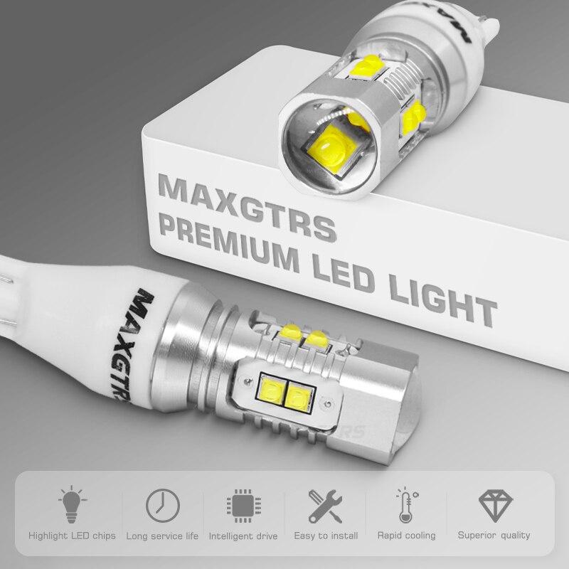 Image 2 - 2x CREE Chip XBD 50W T15 W16W 921 912 LED Backup Light 12V 24V Car Reversing Bulb Backup Light Turn Signal Light Brake Lamplamp linklamp commanderlamp effects -