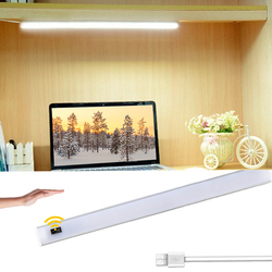 30 40 50 cm LED Light Hand Sweep Motion Sensor Light for bedroom Wardrobe Cabinet Kitchen Lamp DC 5V LED USB Strip Night Lights