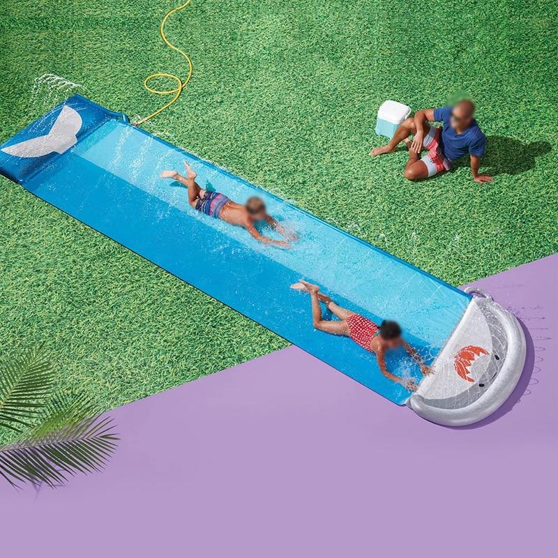 New Waterslide Summer water toys Water slide Spray water function Interactive games for children Lawn sprinkler