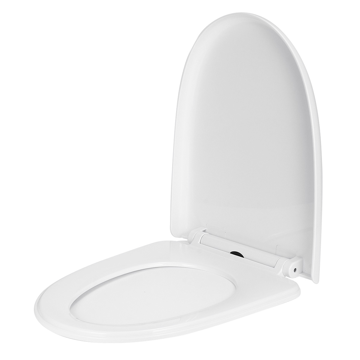 Thicken Universal Toilet Seat Lid Cover Set Replacement Slow-Close White Household 3Types Antibacterial Square Round