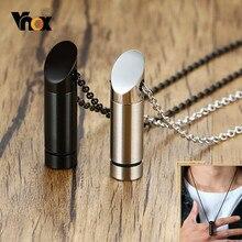 Vnox Minimalistischen Rohr Urne Halskette für Männer Frauen Edelstahl Asche Parfüm Diffusor Fläschchen Anhänger Feuerbestattung Andenken Schmuck