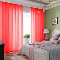 2.4x7ft kırmızı yılbaşı perde lüks ev dekorasyonu 2 panel şifon zemin perdeler karartma sırf perdeleri Bedroom-M190910