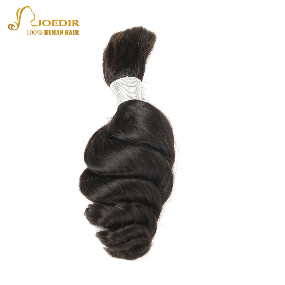 Joedir Loose Wave Bulk <font><b>Hair</b></font> For Braiding Brazilian Remy Human <font><b>Hair</b></font> Weave Bulk Bundles <font><b>10</b></font> To 30 Inch Crochet Braids Natural Color image