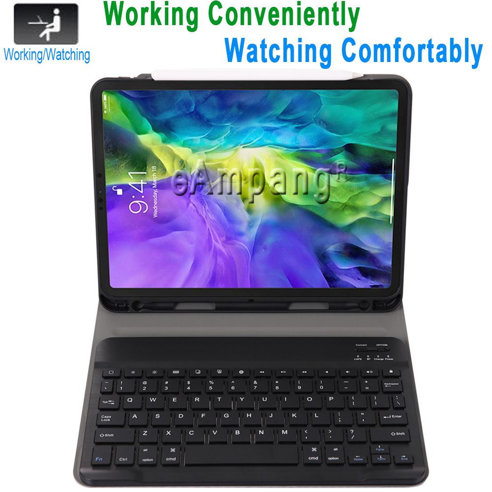 For iPad Pro 11 2020 2018 Keyboard Case with Pencil Holder Keyboard for Apple iPad Pro