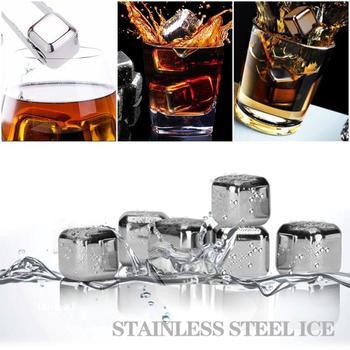 Wielokrotnego użytku kamienie Whisky kostki lodu kostki chłodzące kostki chłodzące ze stali nierdzewnej do Whisky Whisky wiaderko z lodem szampana do chłodzenia piwa tanie i dobre opinie Chłodnic wina i agregatów Ce ue Lfgb Ekologiczne Zaopatrzony CW102650 food grade stainless steel+edible ethanol+pure water