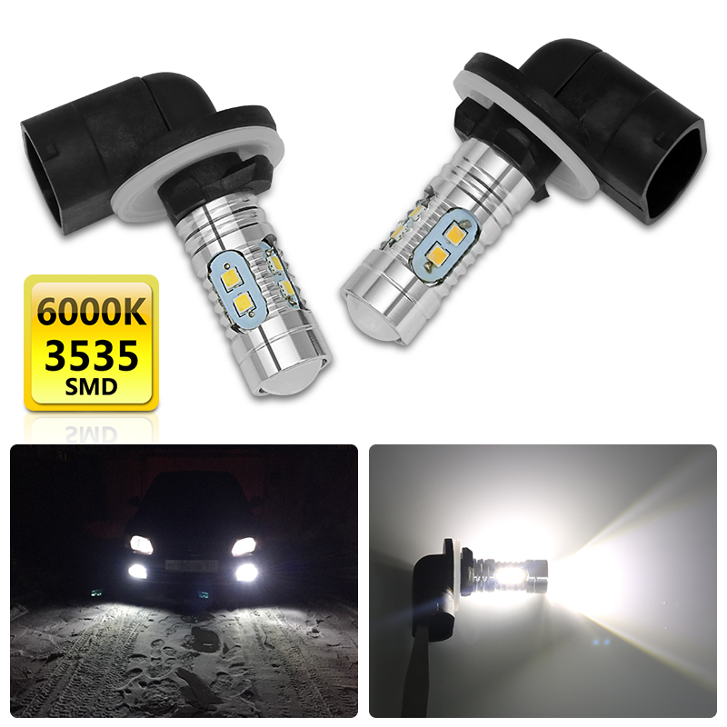 2Pcs H27/881 Led P13W Led Bulb 20W 700LM 6500K White Car Fog Light Driving Day Running Lamp Auto 12V-24V For HYUNDAI