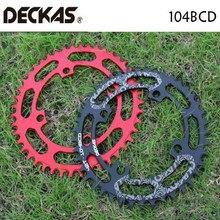DECKAS 104BCD 40/42/44/46/48/50/52T горный велосипед Звездочка MTB велосипед диаметра окружности болтов(Алюминий узкая широкая цепь из колец цепь BCD 104
