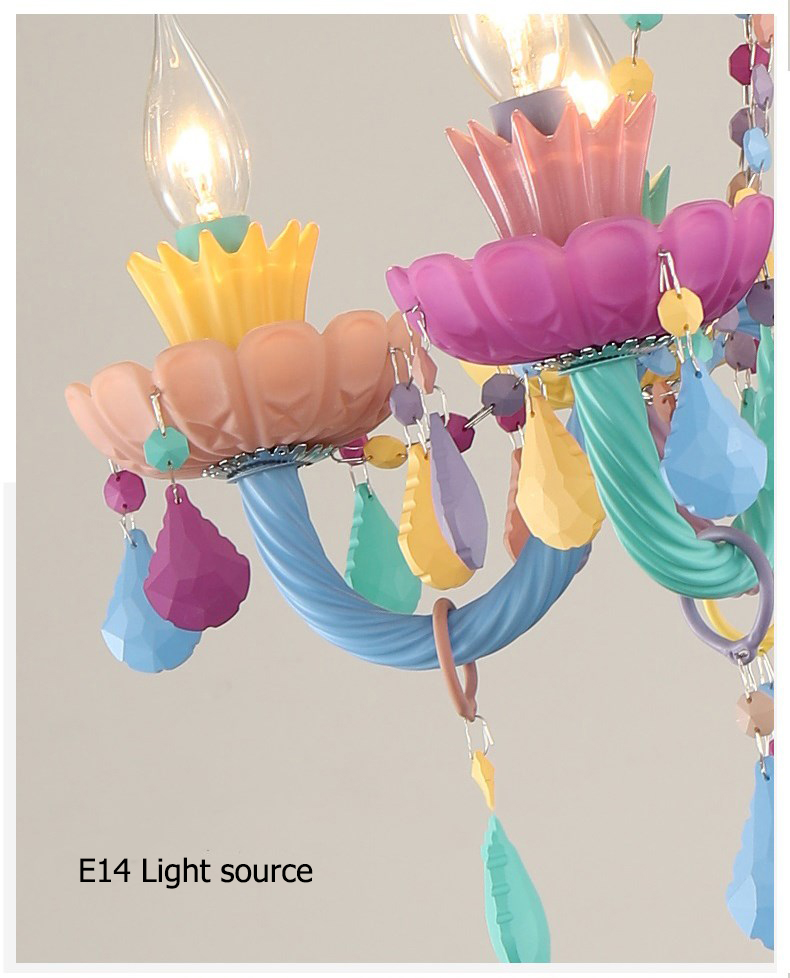 Moderno colorido luzes lustre de cristal lustre