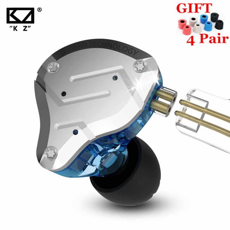 KZ ZS10 PRO 1DD 4BA HIFI металлическая гарнитура, гибридные наушники в ухо, спортивные наушники с шумоподавлением, гарнитура ZSN PRO ZST AS12 AS16 ES4 V80 T2 S2