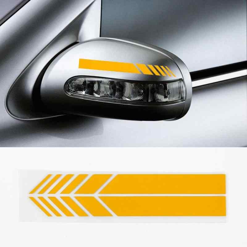 2 pièces voiture autocollants voiture rétroviseur autocollants réfléchissant 3d Film véhicule décalcomanies voiture extérieur décor 5 couleurs voiture accessoires