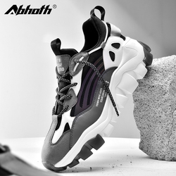 Abhoth High Quality Rubber Hard-Wearing Men Casual Shoes Comfortable Outdoor Non-slip Jogging Trend Mens Sneakers Gym Shoes