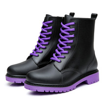 Waterproof Rain Boots Women Winter Shoes Non-slip Wear-resistant Ankle For Rubber Female Booties