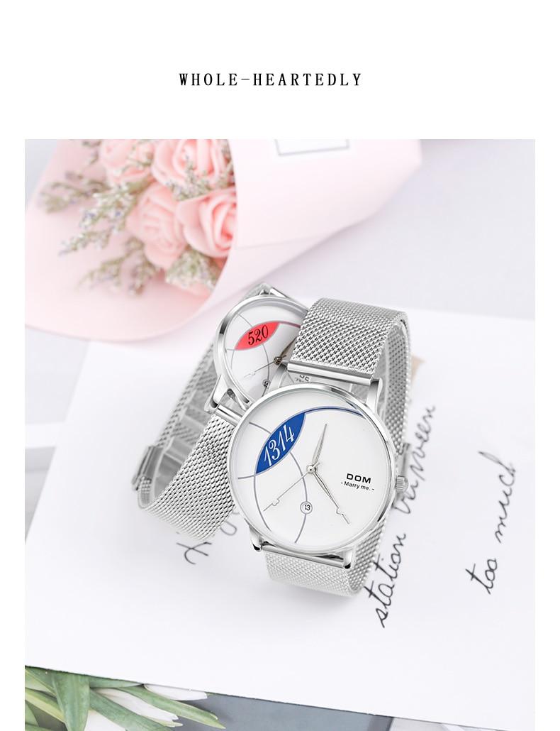 Dom relógio feminino marca superior de luxo