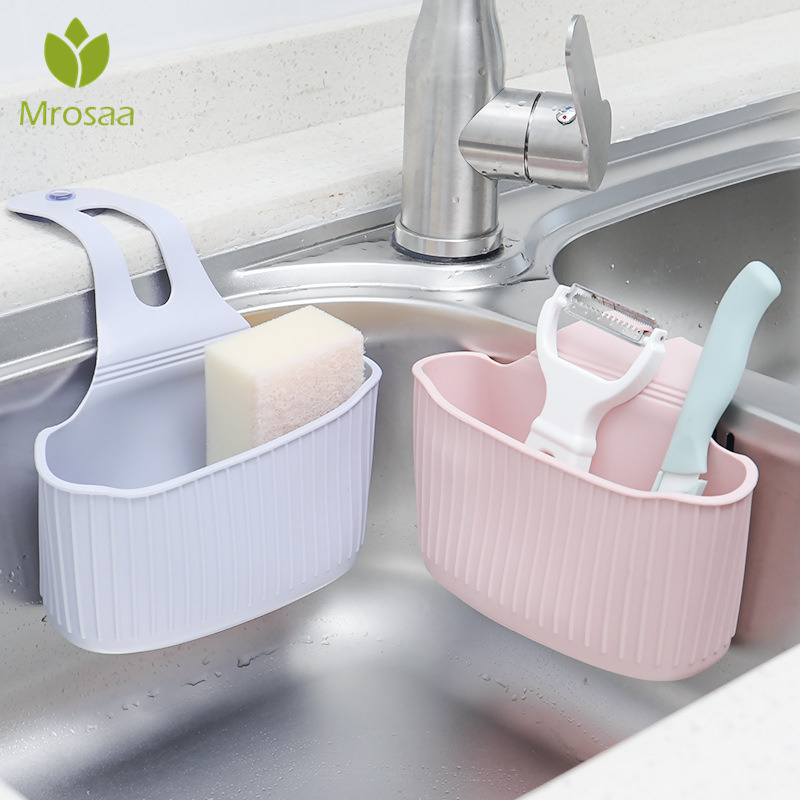 Sink Shelf Organizer Kitchen Sponge Draining Rack Suction Cup Bathroom Shower Storage Holder Sink Faucet Kitchen Accessories