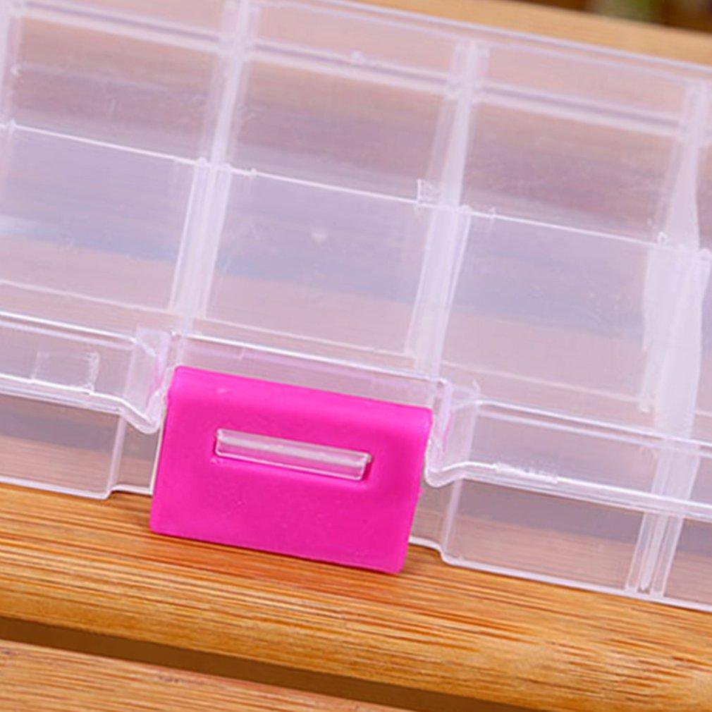 10 сеток пластиковая коробка для хранения для маленьких компонентов ящик для ювелирных инструментов бисер таблетки Органайзер дизайн ногтей наконечник чехол