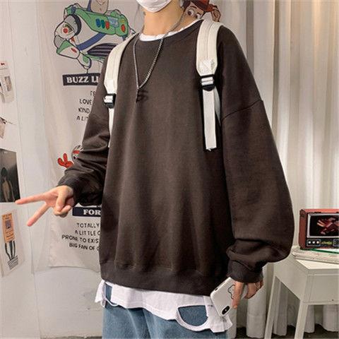 loose Korean style plus size sweatshirt winter clothes streetwear women 2020 new fashion plus velvet oversize harajuku hoodie 19