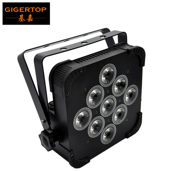 Gigertop TP-G3039-4IN1 4 Color 9 x 12W RGBW Flat DMX512 Led Par Light DMX 512 Stage Lighting For DJ Disco Party Projector