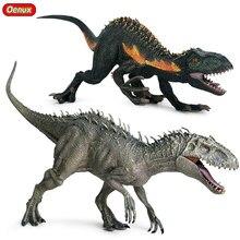 Figurine d'action Jurassic Indominus Rex Velociraptor, dinosaure sauvage tyrannosaure, modèle animal, jouet pour enfant, Collection en PVC, nouvelle Collection