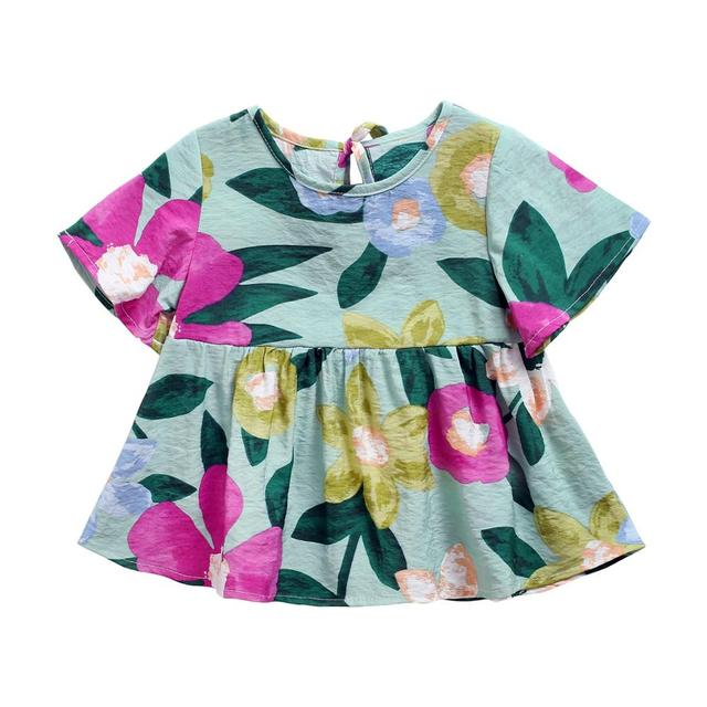Sanlutoz Floral Summer Baby Girl Dress Cotton Newborn Baby Dresses Holiday Casual