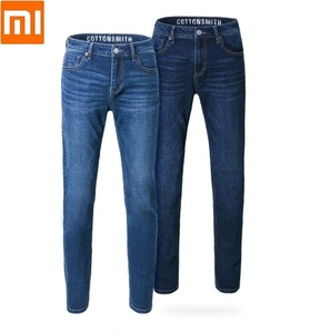 Image 1 - Xiaomi Cottonsmith Classic trend jeans Loose comfortable Men slim fit denim jeans Trousers Casual Straight Elasticity pants