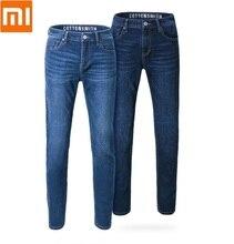 Xiaomi Cottonsmith クラシックトレンドジーンズルース快適な男性スリムフィットデニムジーンズはカジュアルなストレート弾性パンツ