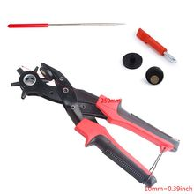 Professional Hole Punch Plier Revolving Heavy Duty Leather Punching Tool for Belts Purses Watch Bands professional heavy duty pneumatic gabion hog ring plier
