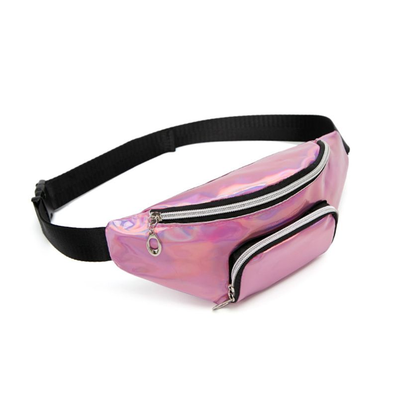 Fashion Holographic Waist Fanny Pack Belt Bag Phone Pouch Travel Hip Bum Shoulder Bags Purse For WoMan Girls