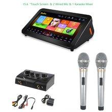 O android da máquina do orador do jogador de gymsong ktv china com o disco rígido de 2tb inclui 40k canções em casa sistema do karaoke do tela táctil de jukebox