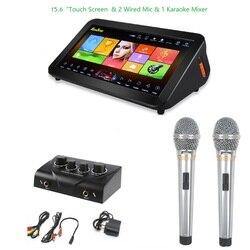 GymSong Ktv odtwarzacz maszyna głośnik chiny androida z 2TB dysk twardy to 40k piosenki domu szafa grająca ekran dotykowy System do Karaoke