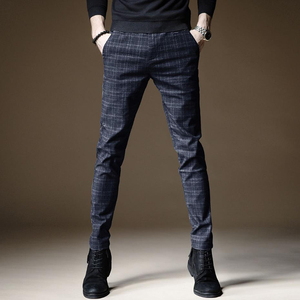Image 2 - 2020 Autumn Upscale Men Casual Pants Thick Cotton and Linen Male Pant Straight Trousers Business Plus Size 38