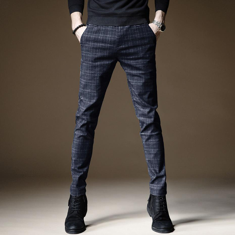 Image 2 - 2020 New Design Upscale Men Casual Pants Cotton and linen Slim Male Pant Straight Trousers Business Pants Men Plus Size 38Casual Pants   -