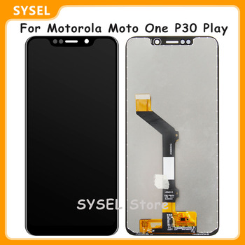 For Motorola Moto One P30 Play LCD Display + Touch Screen Digitizer Assembly XT1941-1 XT1941-3 XT1941-4 XT1941 Display Screen image