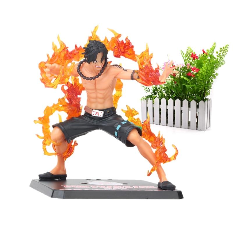 Anime One Piece15cm One Piece ZERO Portgas D Ace Battle Ver. Fleam PVC Action Figure Model Toys With Original Box