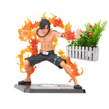 Anime One Piece15cm One Piece ZERO Portgas D Ace Battle Ver. Fleam PVC Action Figure Model Toys with Original Box(China)