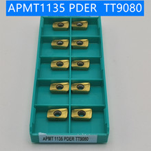 APMT1135 PDER TT9080 Carbide Insert Turning tools Coating CVD+PVD Cutting tools for lathe Mill cnc milling cutter APMT1135PDER