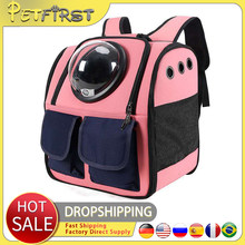 Petfirst Pet Knapsack Go Out And Carry Transparent Cat Bag Shoulder Dog Backpack For Pet Product