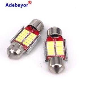 Image 3 - 1000 adet Festoon 31mm 36mm 39mm 41mm C5W canbus hiçbir hata otomatik ışık 12 SMD 4014 LED araba iç tavan aydınlatması okuma ampul beyaz
