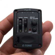 G-tone 2-band Ukelele EQ Ukulele Equalizer Pickup Hawaiian Guitar with Tuner Piezo Ceramic Pick-up Preamp System