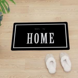 Image 1 - Kreative HAUSE PVC Boden Matte Non slip Küche Matte Moderne Dekoration Eingang Fußmatte Front Tür Schützen Boden Leder teppich