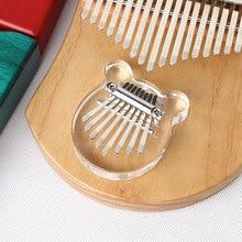 Musical-Instrument Percussion Kalimba Acrylic African Crystal 7x6x3cm 8-Keys Mbira Thumb-Finger-Piano