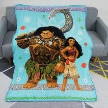 Недорогие летние мягкие фланелевые одеяла moana и maui легкие