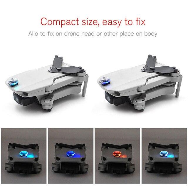 נטענת צבעוני פלאש LED ערכת DJI Mavic מיני Drone אביזרי אחת אור קישוט