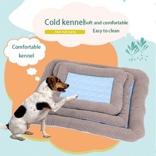 Summer Cooling Pet Dog Mat Ice Pad Dog Sleeping Mats For Dogs Cats Pet Kennel Top Quality Cool Cold Silk Bed For Dog Accessories summer dog cooling mats cat blanket ice pet dog bed mats for dogs cats sofa portable tour camping yoga sleeping pet accessories
