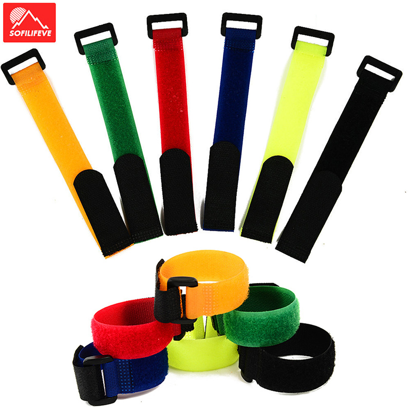 30cm Multifunctional Bicycle Fixing Strap Magic Velcro Adjustable Adhesive Bandage To Fix Bike Inflator MTB Bike Accessories