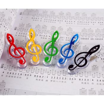 1PC Musical Book Note Clip Plastic Piano Music Book Page Clip Treble Clef Clip Music Accessories 2020 image