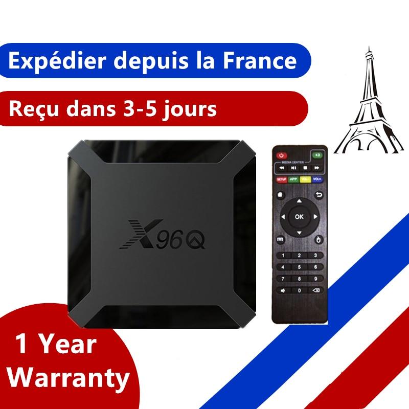 Новый x96q Android 10,0 приставка для ТВ ip приставка для ТВ x96 q 1G 8G 2G/16G Allwinner H313 умный ip ТВ Декодер каналов кабельного телевидения коробки из Франции
