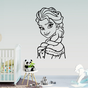 Cute Princess Wall Sticker Pvc Removable For Bedroom Decoration Wall Art MURAL Drop Shipping цена 2017