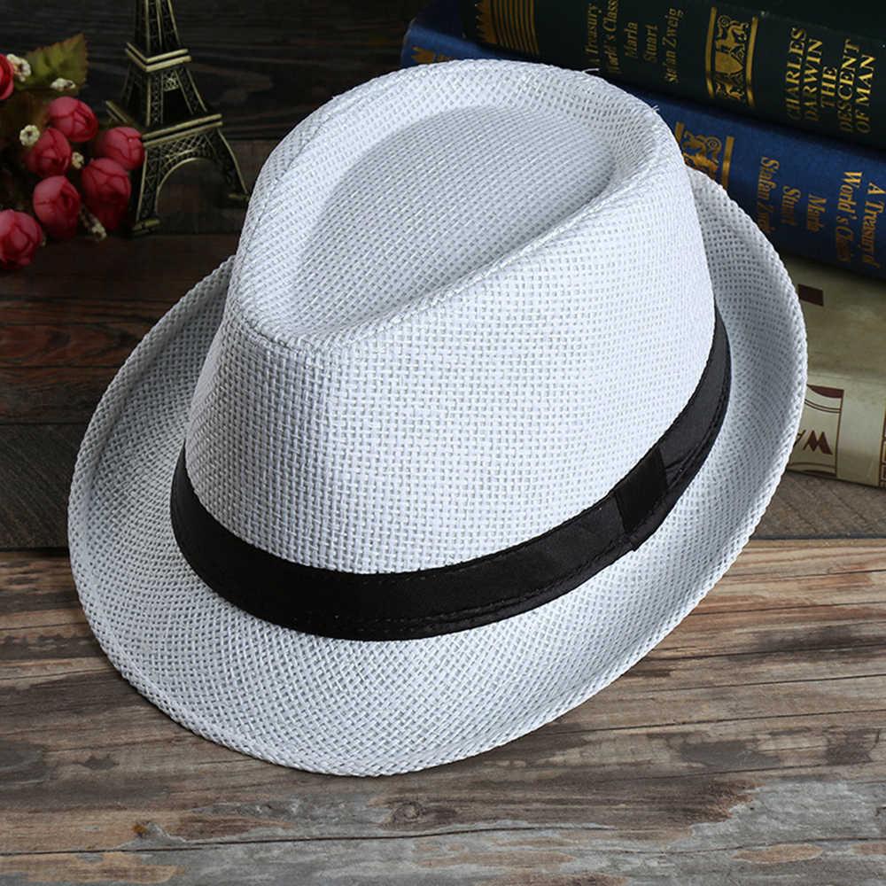 Dzieci dziecko lato plaża słomka słomka czapka jazzowa odkryty oddychające kapelusze Sunhat dzieci dzieci dziecko letnie dziewczyny chłopcy Sunhat Trilby 16