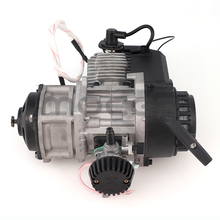 Electric start 49cc 2 Stroke Engine with throttle cable comp Motor Mini Quad Rocket Pocket Blke mini quad for 25h chain